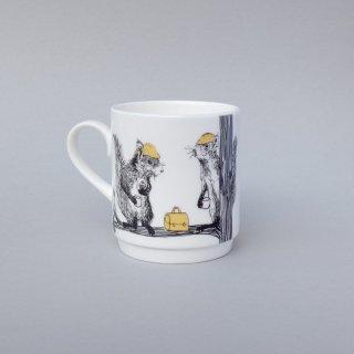 スタッキングカップ 'Animal tree Squirrels' Jimbobart