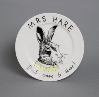 サイドプレート 'Mrs Hare Dont cake to share' Jimbobart
