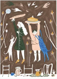 Greeting Card The Feast  Polly Fern