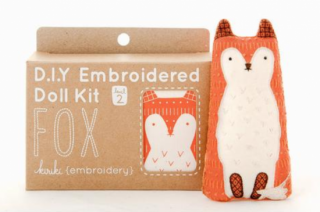 Fox Embroidery Kit  刺繍キット (キツネ)