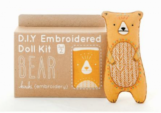 Bear  Embroidery Kit  刺繍キット(クマ)