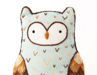 Horned Owl Embroidery Kit 刺繍キット(ミミズク)