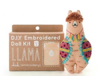 Llama Embroidery Kit 刺繍キット(ラマ)