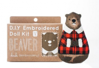 Beaver Embroidery Kit 刺繍キット(ビーバー)
