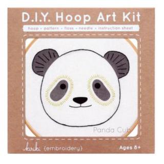 Panda - Hoop Art Kit  刺繍キット(パンダ)