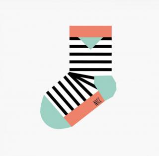 Baby socks stripes red ベビーストライプソックス
