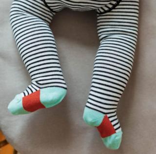 Baby pantyhose stripes red ベビータイツストライプ