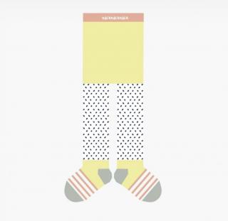 Baby tights freckles yellow ベビータイツイエロー点線柄