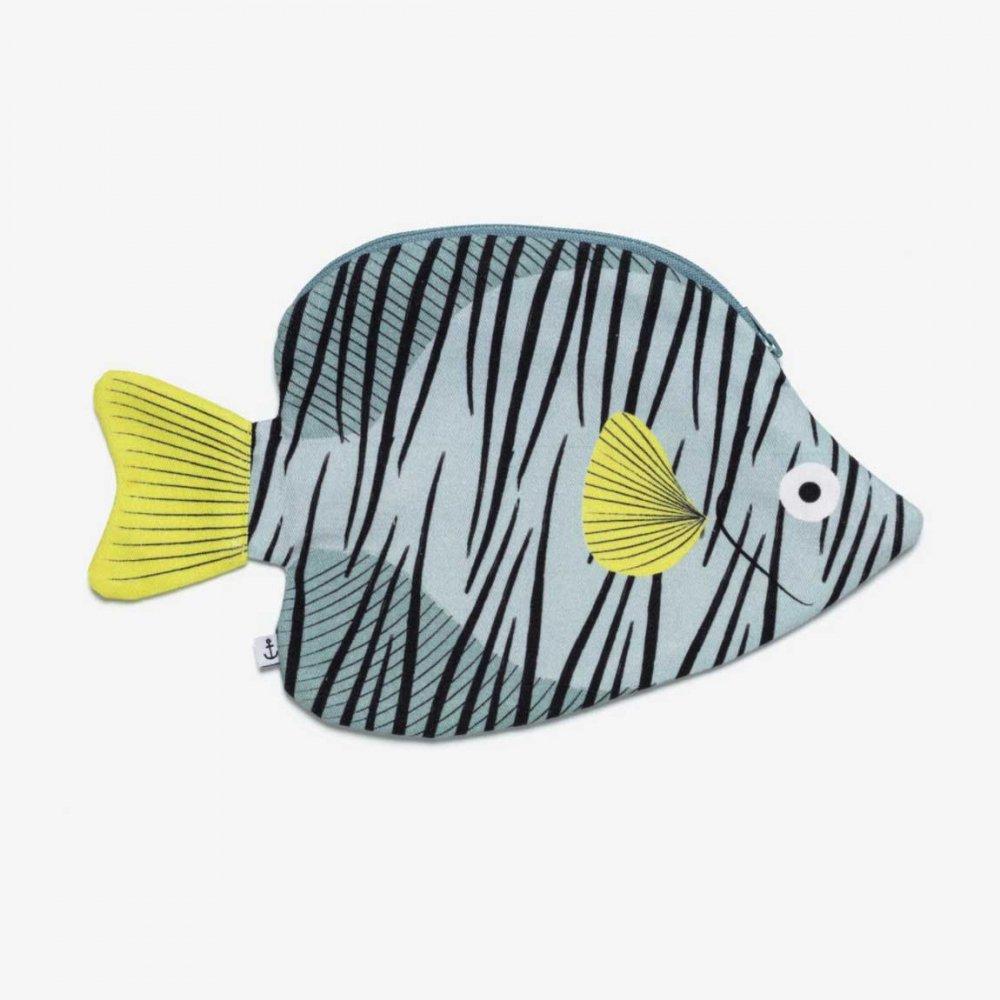 Green Butterfly Fish グリーンバタフライのポーチ