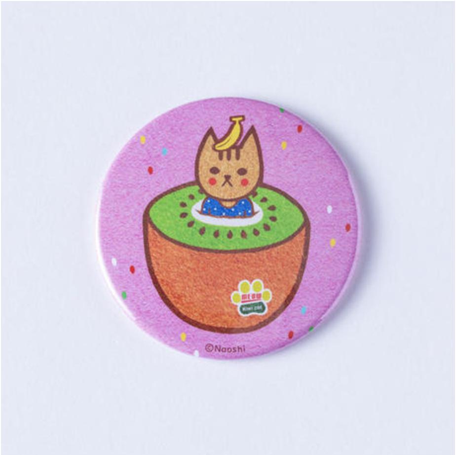 FRUIT CAT CAN MIRROR-Pink  フルーツ猫 缶ミラー-ピンク