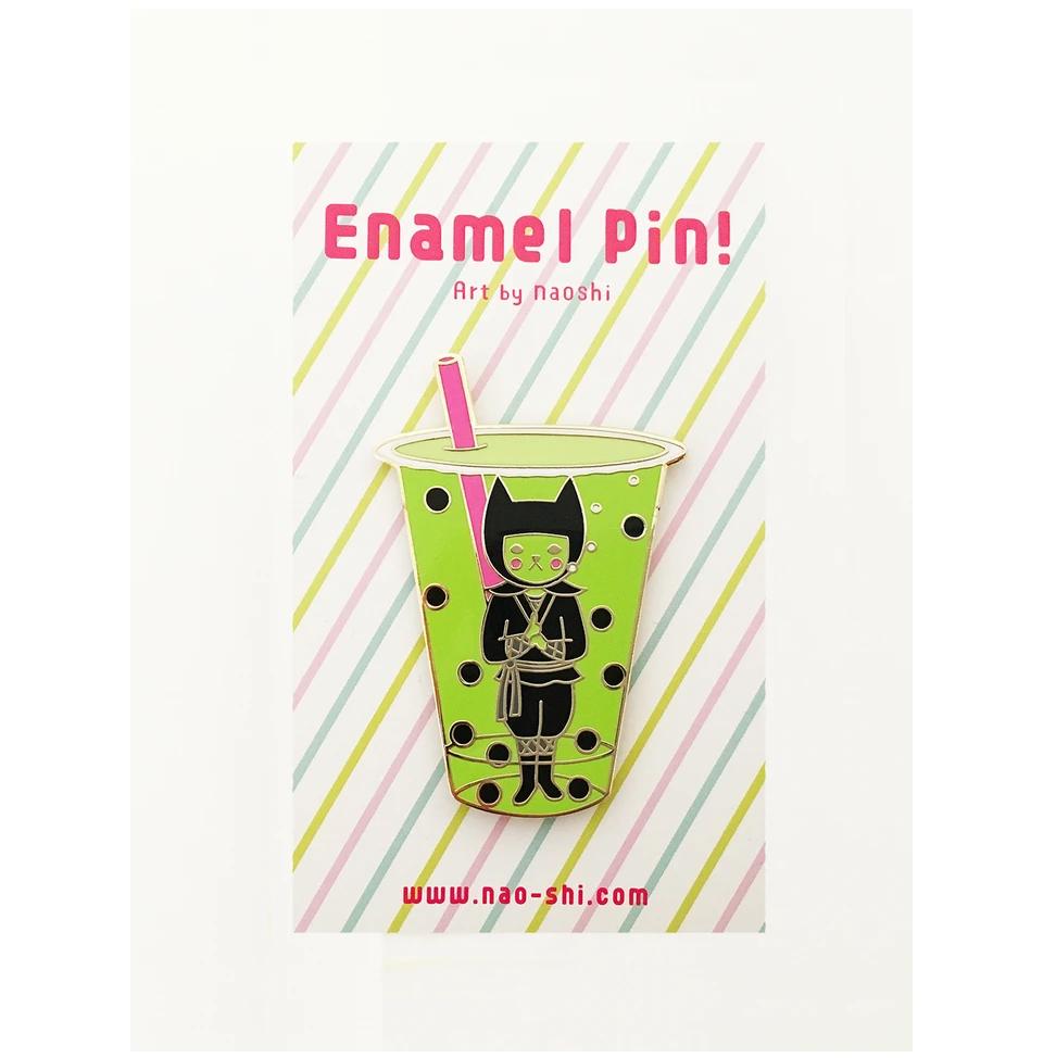 Enamel Pin -Boba Ninja / Matcha- エナメルピン ( 泡忍者/ 抹茶 )