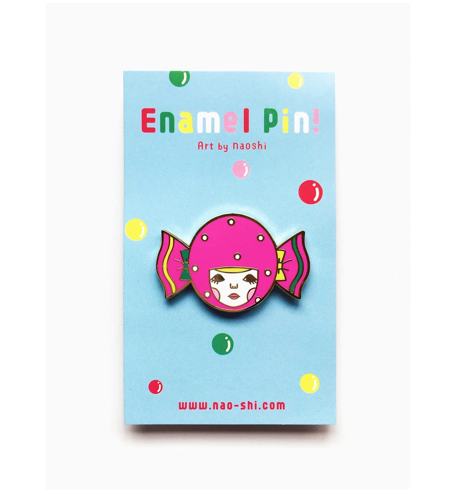 Enamel Pin -Candy Girl- エナメルピン ( キャンディーガール )