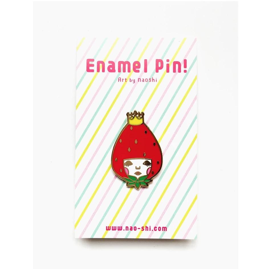 Enamel Pin -Strawberry Princess- エナメルピン (いちご姫)