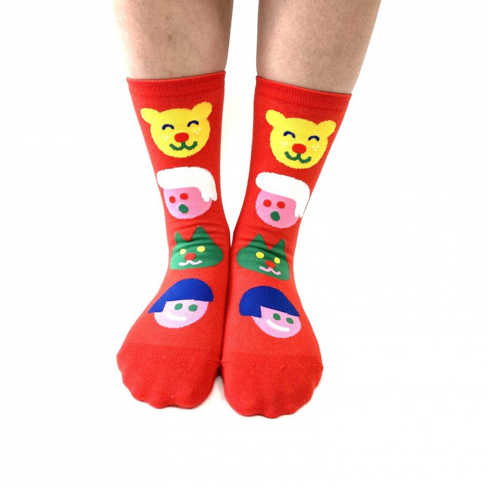 <img class='new_mark_img1' src='https://img.shop-pro.jp/img/new/icons15.gif' style='border:none;display:inline;margin:0px;padding:0px;width:auto;' />Original Socks (Red) Katie Benn オリジナルソックス(赤)