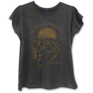 BLACK SABBATH US Tour 1978 with Skinny Fitting Blk, レディースTシャツ