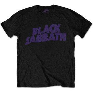 BLACK SABBATH Wavy Logo Vintage, Tシャツ