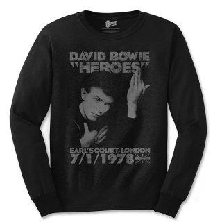 DAVID BOWIE Heroes Earls Court, ロングTシャツ