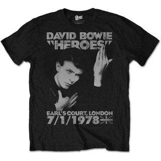 DAVID BOWIE Heroes Earls Court, Tシャツ