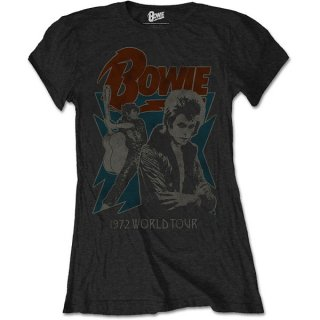 DAVID BOWIE 1972 World Tour, レディースTシャツ