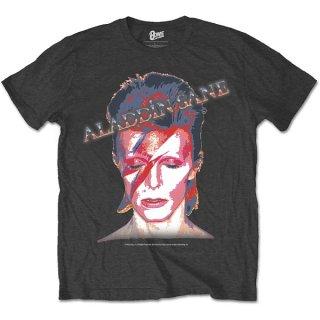 DAVID BOWIE Aladdin Sane Grey, Tシャツ
