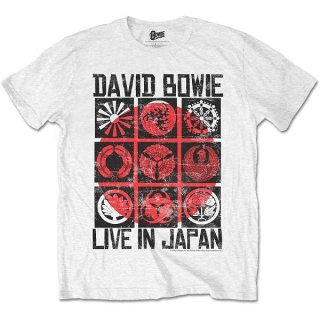 DAVID BOWIE Live in Japan White, Tシャツ