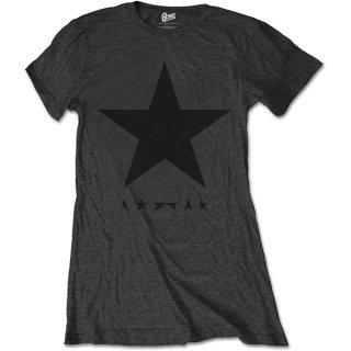 DAVID BOWIE Blackstar (on Grey), レディースTシャツ