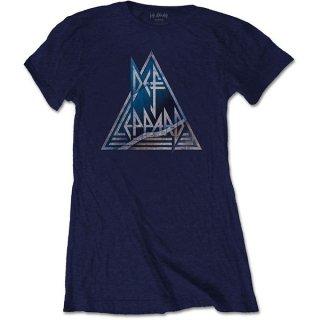 DEF LEPPARD Triangle Logo, レディースTシャツ