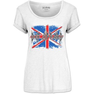DEF LEPPARD Union Jack (Scoop Neck), レディースTシャツ