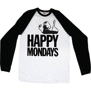 HAPPY MONDAYS Logo, ラグランロングTシャツ