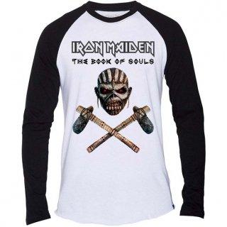 IRON MAIDEN Axe Colour, ラグランロングTシャツ