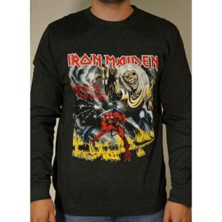 IRON MAIDEN Number of the Beast with Puff Print Finishing, スウェットシャツ