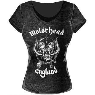 MOTORHEAD England With Acid Wash Finish, レディースTシャツ
