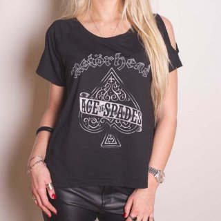 MOTORHEAD Ace of Spades with Cut-outs, レディースTシャツ