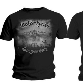 MOTORHEAD Clean Your Clock B&W, Tシャツ