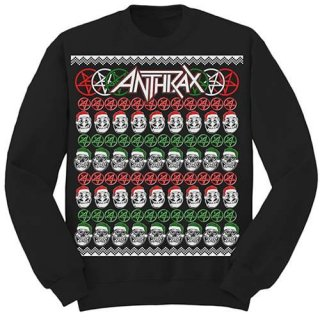 ANTHRAX Skulls Christmas, スウェットシャツ