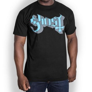 GHOST Blue/Grey Keyline Logo, Tシャツ