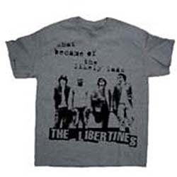 THE LIBERTINES Likely Lads with Puff Print Finishing, Tシャツ