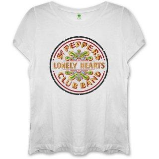 THE BEATLES Sgt Pepper White, レディースTシャツ