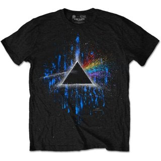 PINK FLOYD Dark Side Of The Moon Blue Splatter, Tシャツ