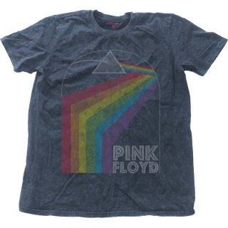 PINK FLOYD Prism Arch with Snow Wash Finishing, Tシャツ