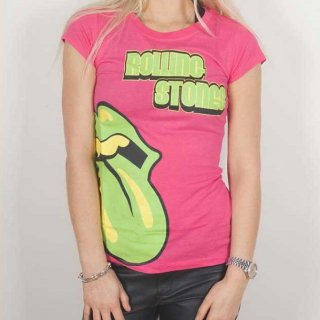 THE ROLLING STONES Green Tongue, レディースTシャツ
