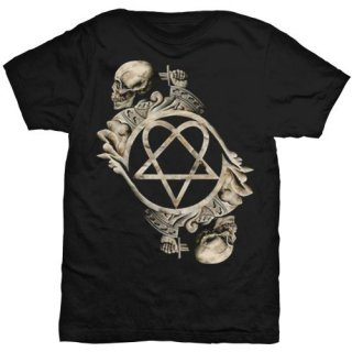HIM Bone Sculpture with Back Printing, Tシャツ