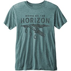 BRING ME THE HORIZON Wound with Burn Out Finishing, Tシャツ