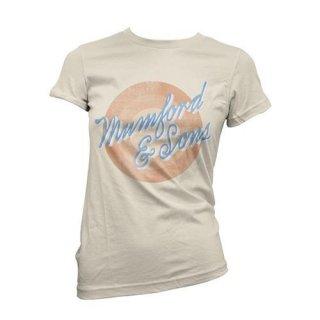 MUMFORD & SONS Sun Script with Skinny Fitting, レディースTシャツ