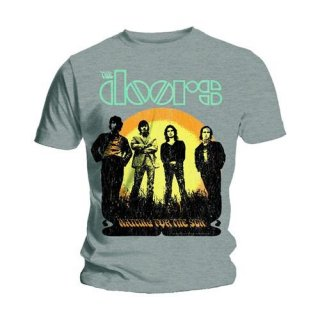 THE DOORS Waiting For The Sun Grey, Tシャツ