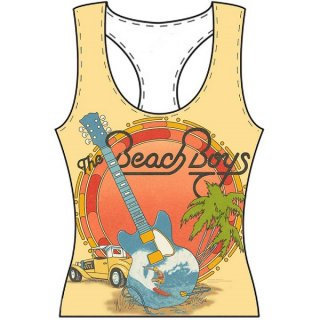 THE BEACH BOYS All-over, タンクトップ(レディース)