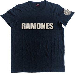 RAMONES Logo & Presidential Seal With Applique Motifs, Tシャツ