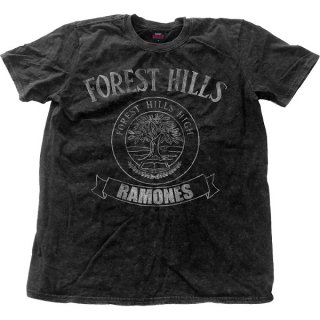 RAMONES Forest Hills Vintage With Snow Wash Finishing, Tシャツ