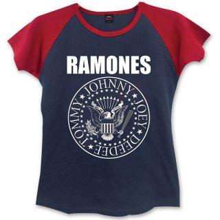 RAMONES Presidential Seal With Skinny Fitting Blk, レディースTシャツ
