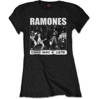 RAMONES Cbgb 1978, レディースTシャツ